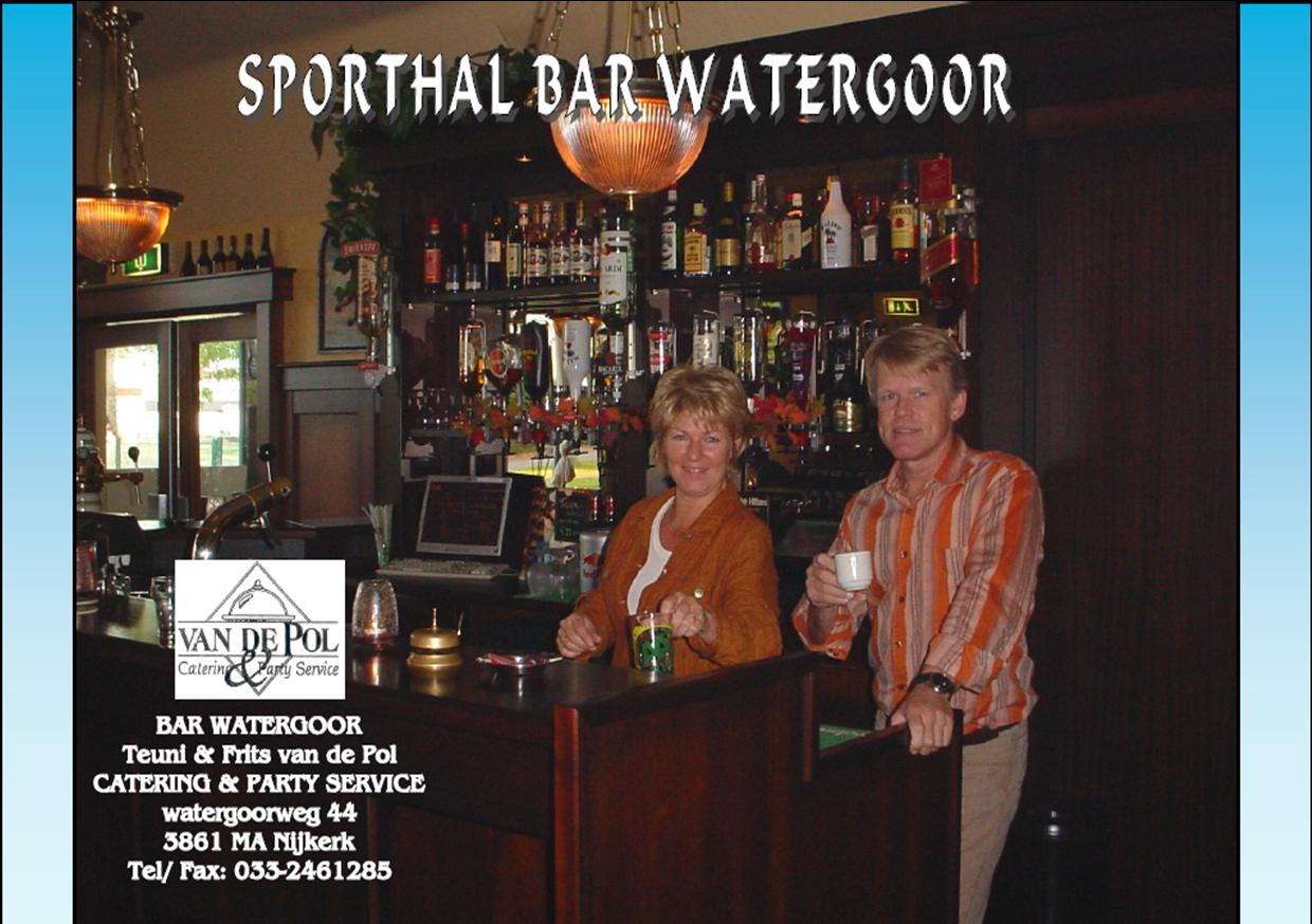 Bar sporthal Watergoor